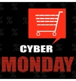Cyber monday ecommerce promotions and sales vector image vector image