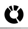 diagram icon graphs icon design vector image