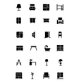 Furniture Solid Icons 2 vector image