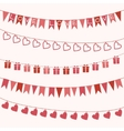 Garlands for Valentines Day or wedding vector image vector image
