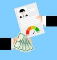 get financial loan vector image