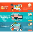 Graphic Design Responsive Webdesign and Freeance vector image
