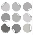 gray stickers collection vector image vector image