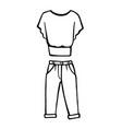 hand drawn fashion icon vector image vector image