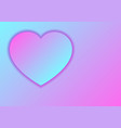 heart love symbol for valentines day from pastel vector image vector image