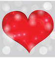 Heart on abstract background vector image vector image