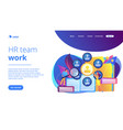 human resources concept landing page vector image vector image