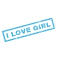 I Love Girl Rubber Stamp vector image vector image