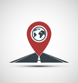 icon pointer location on the road vector image vector image