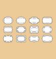 label ornamental blank frames set royal ornate vector image vector image