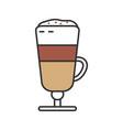 latte macchiato color icon vector image