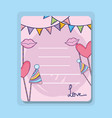 love romantic card to party celebration vector image vector image