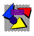 memphis set 80s vector image vector image