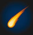 meteor vector image vector image