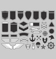military patches army soldier emblem troops vector image