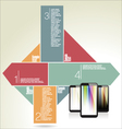 Modern design with a smart phone vector image vector image