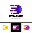motion speed line letter d logo design template vector image vector image