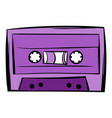 music-cassette or tape icon cartoon vector image