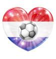 netherlands soccer heart flag vector image vector image
