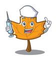 nurse maple character cartoon style vector image