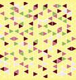 pattern background triangle retro vintage design vector image vector image