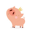 pig with crown vector image vector image