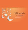 ramadan kareem muslim religion holy month greeting vector image