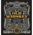 Retro victorian whiskey label vector image vector image
