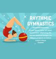 rhythmic gymnastics sport concept banner flat vector image vector image