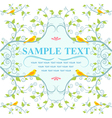 Seamless Nature pattern with birds on tree vector image vector image