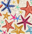 Seamless pattern of starfish vector image
