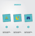 set of child icons flat style symbols with moon vector image vector image