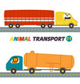 set of isolated transports with animals part 11 vector image vector image