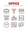 set of office or business icons vector image vector image