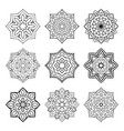set of simple mandalas vector image