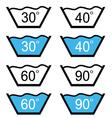 set of washing sign vector image