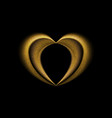Smooth blurred golden heart background vector image vector image