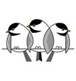 sparrows in winter vector image