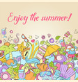 summer background wallpaper texture postcard vector image
