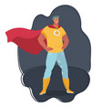 superhero watching over the city vector image vector image