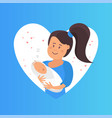 tender hugs of mother and her child the child vector image