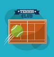 tennis club court speed ball sport banner vector image vector image