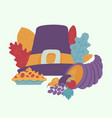 thanksgiving symbols autumn forest icon vector image vector image