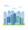 urban landscape city buildings and skyscrapers vector image vector image