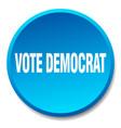 Vote democrat blue round flat isolated push button