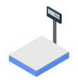 warehouse scales icon isometric style vector image