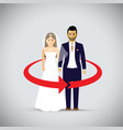 wedding couple as an icon vector image vector image