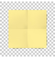 yellow square folded paper sheet vector image