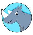 rhinoceros icon flat vector image