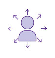 teamwork person pictogram to social business vector image